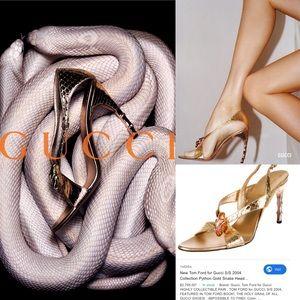 Rare Gucci By Tom Ford Python Heels